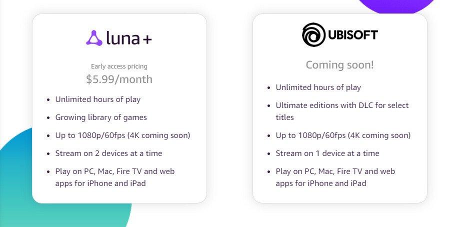 Amazon lanza su servicio de streaming de videojuegos Amazon Luna precio