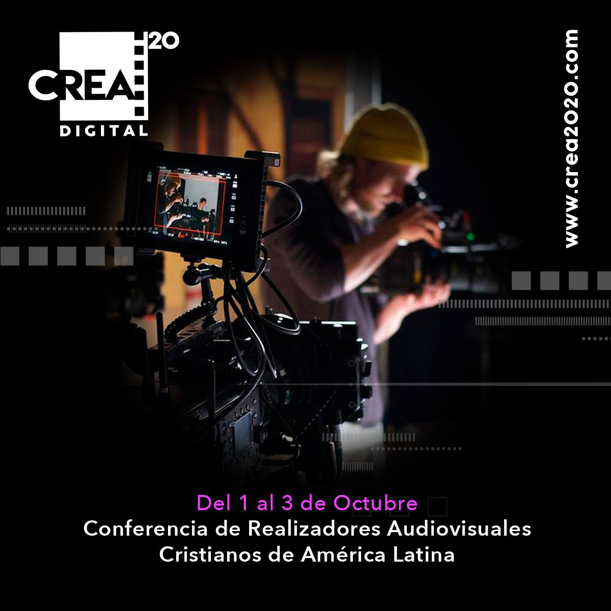 CREA2020 Conferencia de cine y televisión será totalmente digital este año talleres
