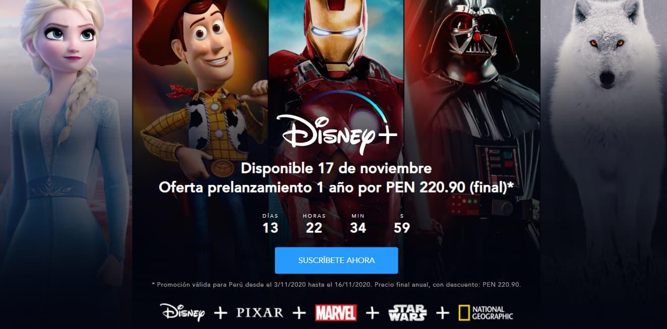 Disney + Fecha de llegada a Perú, precio y estrenos precios latam