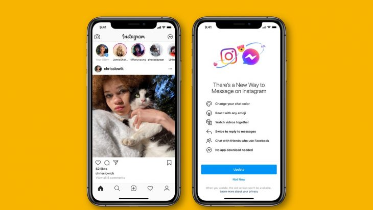 Facebook fusiona Messenger e Instagram Direct de manera oficial