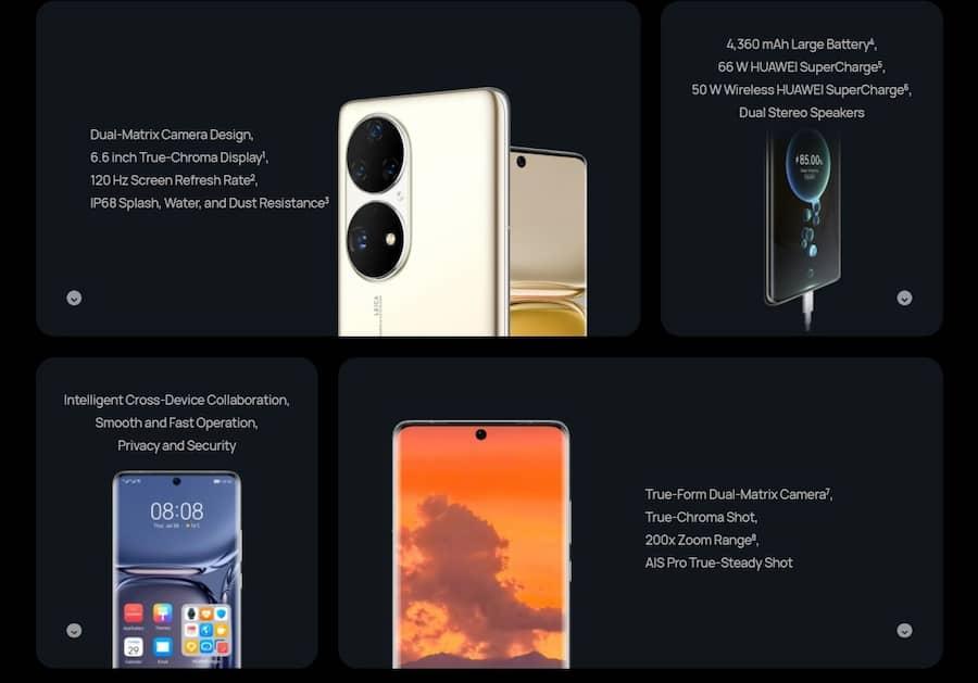 Huawei presentó el P50 y P50 Pro, sus buques insignia que llegan sin 5G ficha tecnica