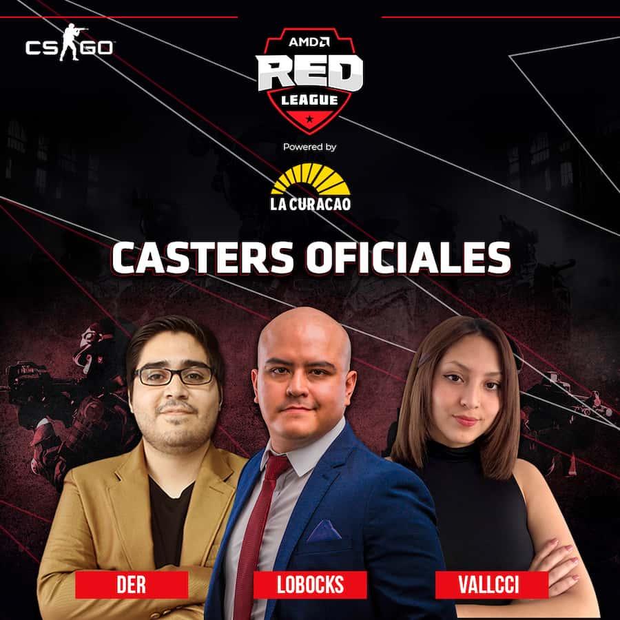 Inician las inscripciones al torneo de CSGO de la AMD Red League caster