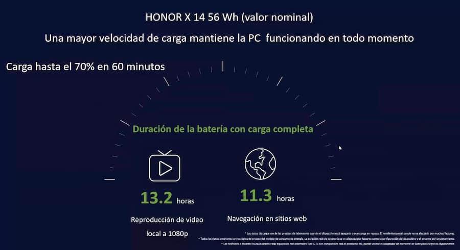 Las MagicBook X14 y X15 de llegaron al Perú, características bateria