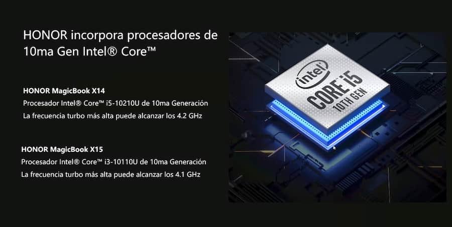 Las MagicBook X 14 y X 15 de llegaron al Perú, características procesador