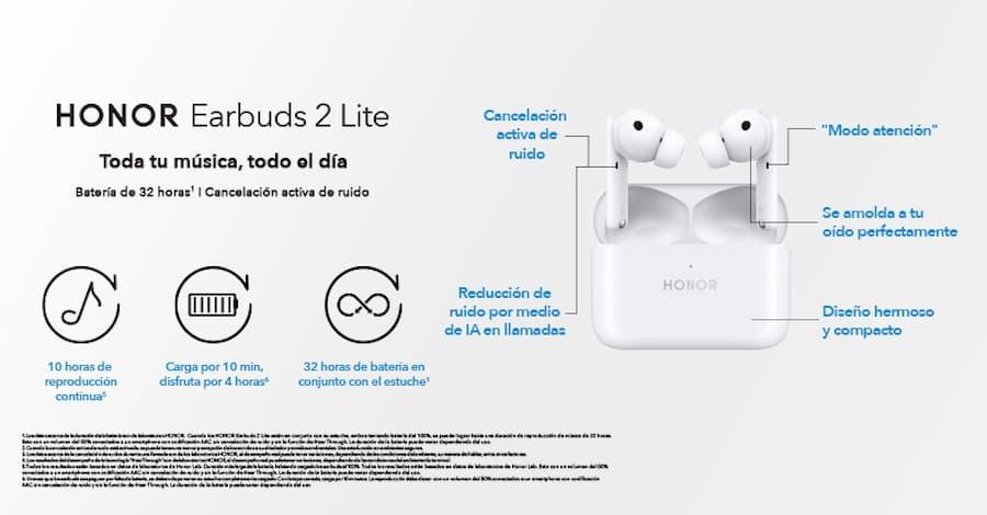 Los Earbuds 2 Lite de Honor llegaron al Perú, conoce sus características y precio ficha tecnica