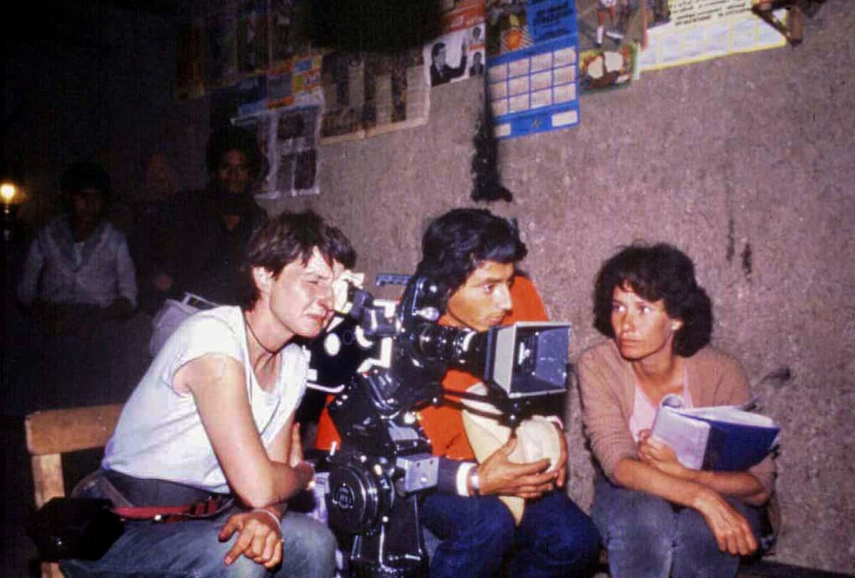 Marianne Eyde Filmando Los ronderos. con Anne Khripounoff Directora de Fotografía (1)