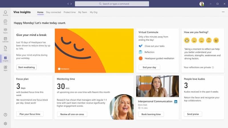 Microsoft Viva La nueva plataforma todo en uno para el teletrabajo modulos peru