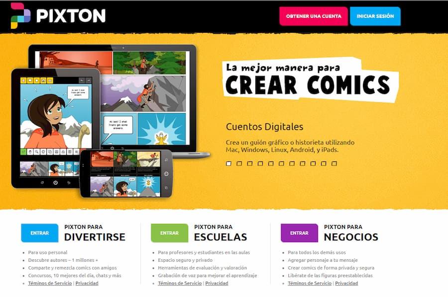 Pixton herramientas para crear clases online