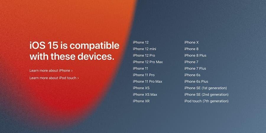 Qué modelos de iPhone son compatibles con iOS 15 lista completa
