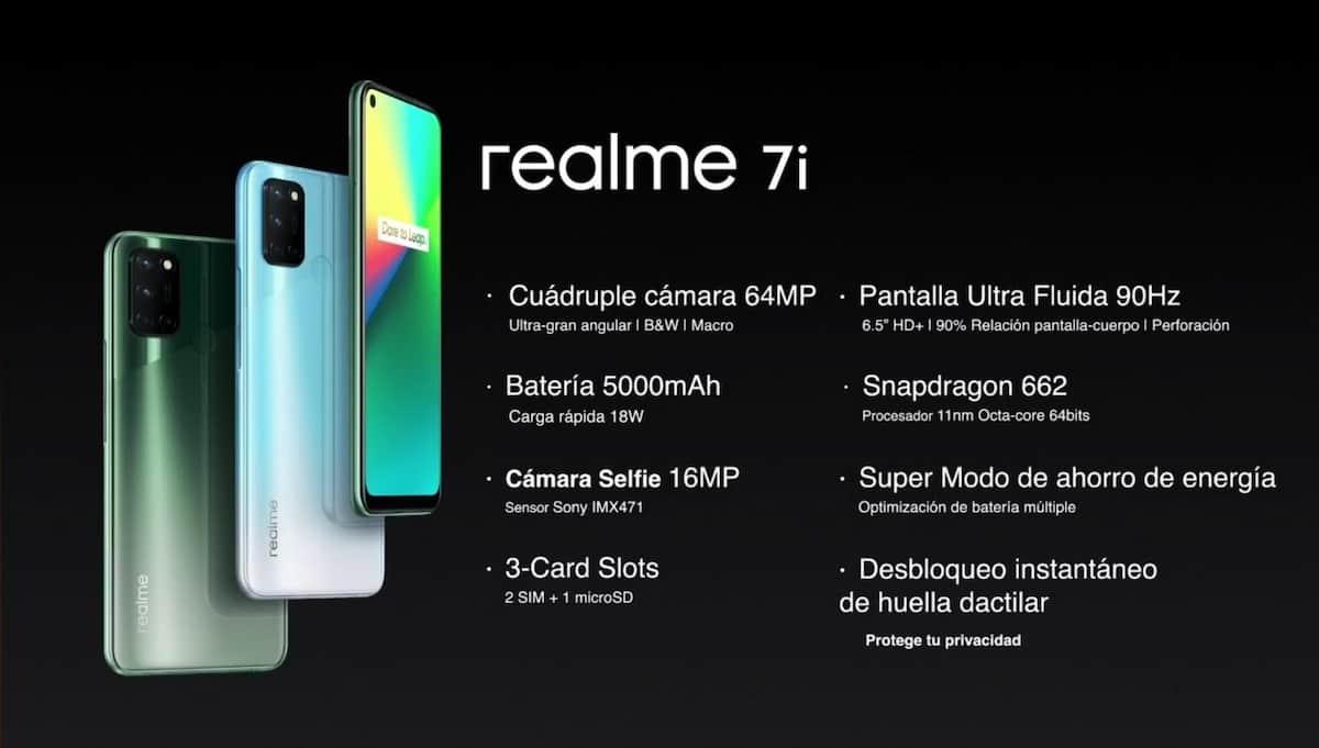 Realme 7i en Perú Características, ficha técnica y precio comprar