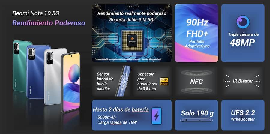 Redmi Note 10 5G llegó al Perú, conoce las características y precio del nuevo equipo de Xiaomi ficha tecnica