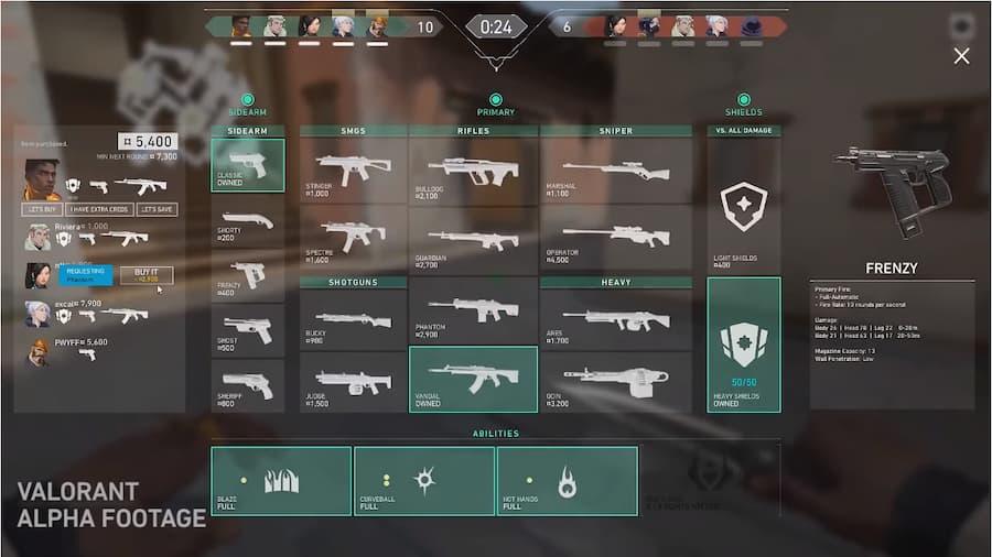 Reseña-Valorant-Armas-dentro-del-juego