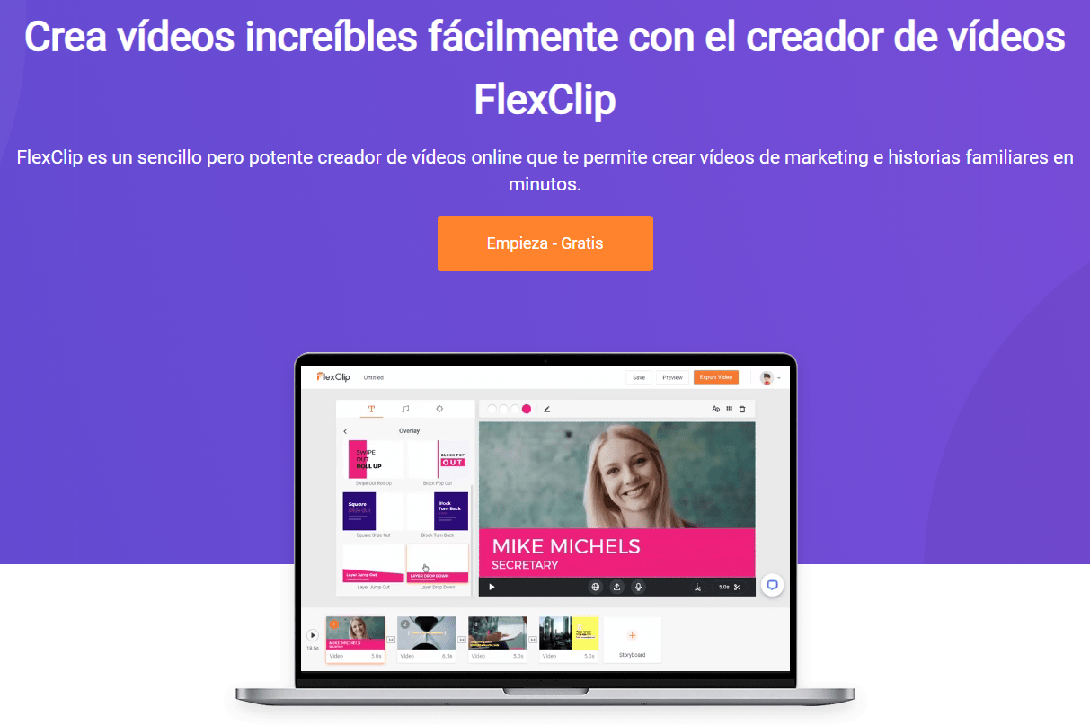 editor de video flexclip