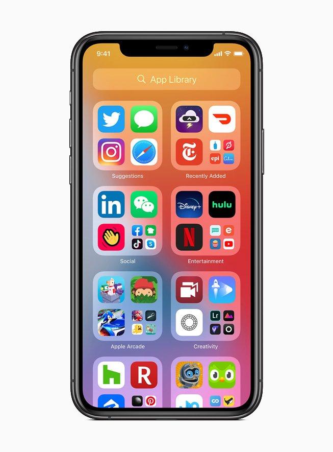 Las principales novedades del iOS14  menu