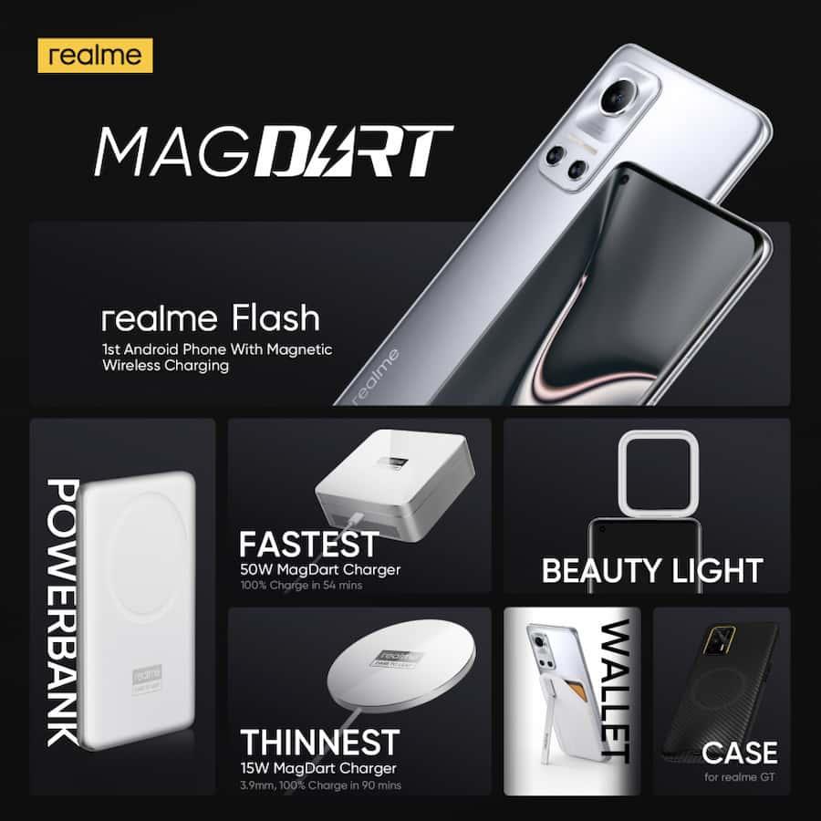 realme presentó MagDart, el primer cargador magnético inalámbrico para Android nuevo
